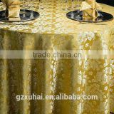 new design yellow wedding party texitile table cover/ table cloth/ from xuhai textile factory with good price