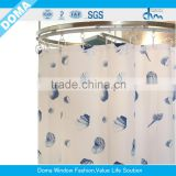 New Printed peva shower curtains/modern print shower curtain/wholesale waterproof shower curtains
