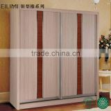 Acid resistant large capacity free samples sliding door wood bedroom furniture wall wardrobe