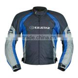 Waterproof, removable inner, protectors, elastic panels motorcycle blue jacket