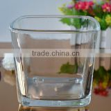 Clear square glass vase with 72oz capacity for plants from Bengbu Cattelan Glassware Factory