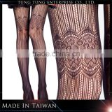 Women japanese fashion seamless black lace tights pantyhose