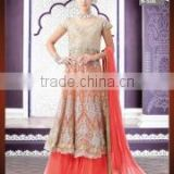 Graciousness Pink Georgette Indo Western Lehenga Style Suit/indian designer anarkali suits