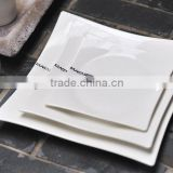 Hot sale square white ceramic charger plates