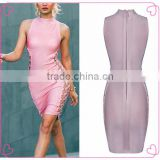2016 Good-selling New Style Pink Bodycon Bandage Dress at Guangzhou