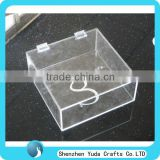 custom design acrylic box clear lucite box with hinge wholesale plastic boxes small clear