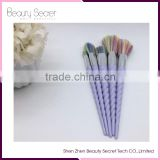 Hot Selling 5PCS Color BB Cream Foundation Brushes purple Handle Makeup Brush Set for Wholesale