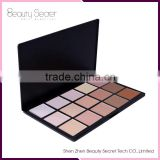 High Quality kiss beauty face powder organic cosmetics, 15 colors beauty cream for dark skins