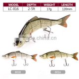 hard body plastic artificial bait jointed swim fishing lures