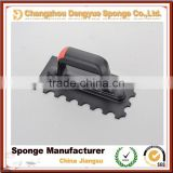 Plastering trowel with toothed plastic handle rubber Tile bricklaying tool
