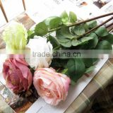 2015 Valentine rose silk flower bouquet for artificial wedding flower arrangements
