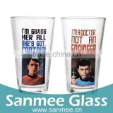 Wholesale Gift Glass Set Logo Decal Star Trek Pint Glasses