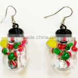 Party supplies wholesale handmade art and craft led christmas light up flashing earrings