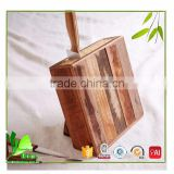Professional made bamboo bamboo knife set with block