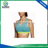 customize type contrast color running fitness sport bra