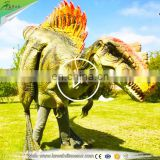 Amusement walking robotic Spinosaurus realistic dinosaur costume for sale