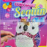 DIY sequin coin banks