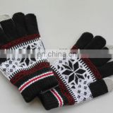 the newest design finger touch screen gloves for 2013 winter (JDG-S5A)