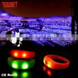 New 2018 Product Party Supplies Chirstmas Best Selling Items LED Sound Activated Bracelet Flashing With Music