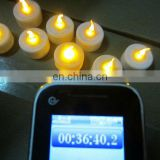 led candle blow off with customer design logo for promotion , LED tealight candle with CR2032 Battery