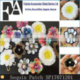 Hot Selling Simply Sequin Pearl Beaded Applique Flower Patch