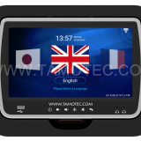 10.1inch black bus entertainment and multilingual system from tamotec