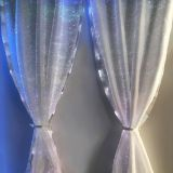 Luminous indoor christmas window curtain led lights up curtain