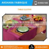 Ethnic Yarn Dyed Cotton Table Cloth for Wedding at Reliable Market Price from India
