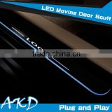 AKD Car Styling For Audi1 Q7 2006-2015 LED Moving Door Scuff New Q7 LED Door Sill plate Q7 Side Step Cover Pedal