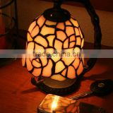 tiffany table lamp stained glass red rose night light decorative mini led lights