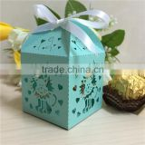 Wholesales 2016 Latest Design Cute Animal Laser Cut Baby Shower Candy Box