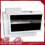 Classic black and white used cheap reception desk,wholesale checkout counter for beauty salon