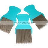 good selling plastic handle and steel pins nit lice comb