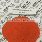 Coated Molybdate Red107 pigment red 104 widely used in paints,leather printing inks,plastic Molybdate Orange Coated 107