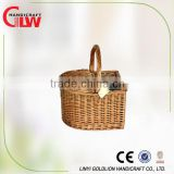 willow picnic basket ,small willow basket without tablewares, wholesale cheap full willow picnic basket