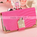 For Apple Iphone 5 5S PU leather lizard grain wallet hard diamond case                                                                         Quality Choice                                                     Most Popular