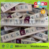 High Quality 100pcs Alphabet Letters Game Kids Educatiional Wooden Alphabet Number Letter                                                                         Quality Choice
