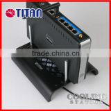 Wholesale electronics mobile set top box cooling aluminum stand holder