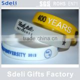 cheap price high quality silicone rubber wristband Embossed color filled silicone bracelet