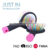 Wholesale Plastic Rainbow Hair Brush With Mirror/Magic Rainbow Hair Comb                                                                                                         Supplier's Choice
