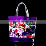 customized printing PVC bag, shopping bag ,gift bag ,Cosmetic bag , with PVC tape handle