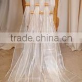white color style chair cover/new design 2015 chair cover/self-tie silk fabric wedding chair cover