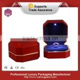 red beautiful new design creative ring led light box