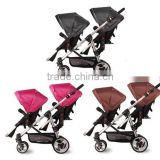 Deluxe Double Baby Stroller,single/double baby pram Convertible ,with car seat                                                                         Quality Choice