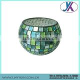 Mosaic glass cylinder tea light candle holder                                                                                                         Supplier's Choice