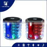 Mini blue tooth speakers with colorful led light fm radio usb port and tf card