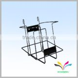 black powder coated wall mount metal magazine rack wall mounted newspaper racks