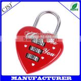 Hot sale high quality 3 digital love digital lock/love heart shaped padlock                                                                         Quality Choice