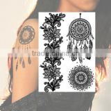 Lace Black Tattoo Body Art Flash Tattoos Temporary Arm Sticker Tattoos Wholesale