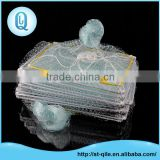 Custom professional fish net white folding pe fishing trap/crab trap